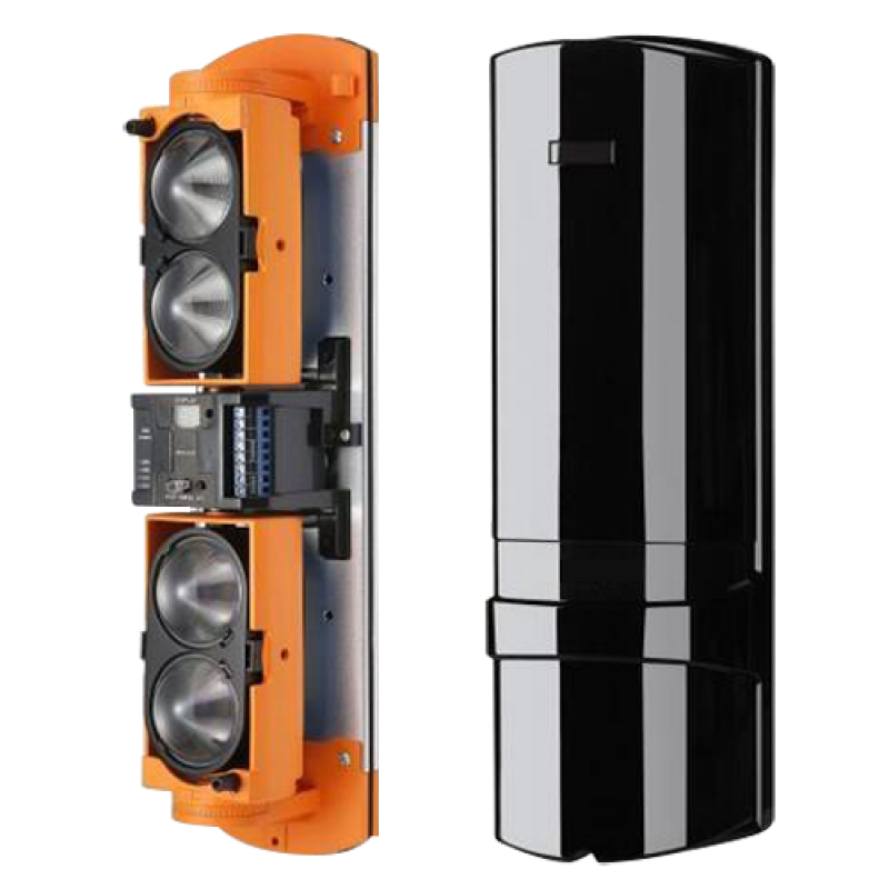 ABH-250L: Infrared barrier detector - Wired | 4 beams | Function AND OR - Max distance. detection 250 / 750 m - High configuration capacity - Tamper | Relay Outputs | LED Display - Power supply 12~24VDC/VAC