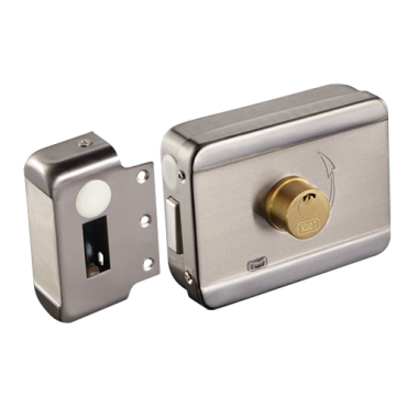 VT-ABK-703B-S: Electromechanical surface lock - Fail Secure (NO) aperture mode - Suitable for surface mounting - LED status indicator - Programmable self-closing - Cylinder included with keys