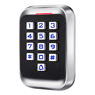 CAM-CP108: Standalone access control - Keypad & RFID entry - Exit relay, alarm and doorbell - Wiegand 26 - Time control - Suitable for exterior IP68