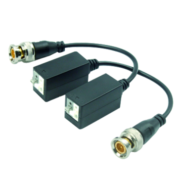BA610-HAC : Passive twisted pair transceiver, Optimized for HDTVI and HDCVI, 1 channel video, Passive 2-pin connector, Range: 200 ~ 400m, 2 units