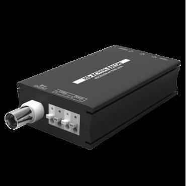 BA615A-RX: Active transceiver - Optimized for HDTVI / HDCVI / AHD - 1 video channel - BNC/UTP 4 pins - Range: 400 ~ 700 m - Receiver / Compatible with BA615A-TX