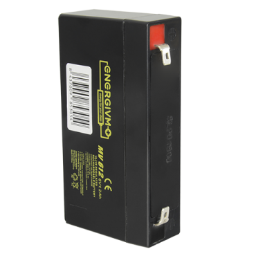 BAT0612-MV: Rechargeable battery - Lead-acid - Voltage 6 V - Capacity 1.2 AH - 58 x 98 x 25 mm / 280 g - For backup or direct use