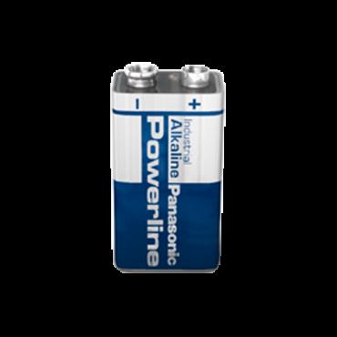 BATT-6LR61: Panasonic - Battery PP3 / 6LR61 - Voltage 9.0 V - Alkaline - Nominal capacity 510 mAh - High quality