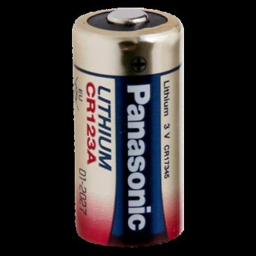 BATT-CR123A-P: Battery CR123A - 3.0 V - Lithium - High quality - Small size