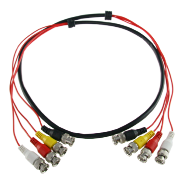 BNC4-45: Prepared multiple cable - Male BNC to male BNC - 4 coaxial links - Length 1,5 m - For connection of Balun to DVR - Compatible with BA614P and PV3208PH
