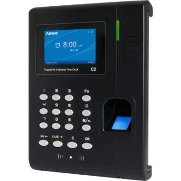 C2 : ANVIZ Presence Control Terminal, Fingerprints, RFID cards and keyboard, 3000 recordings / 50000 records, TCP/IP, USB, USB Flash, 16 Presence control modes, Free CrossChex Software