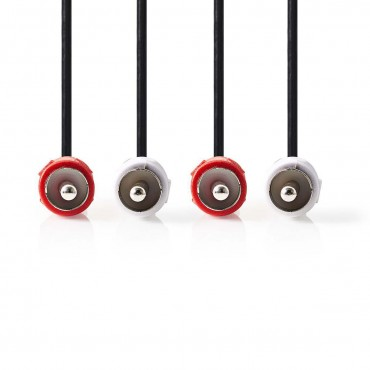 CAGP24200BK: Stereo Audio Cable | 2x RCA Male - 2x RCA Male | Black