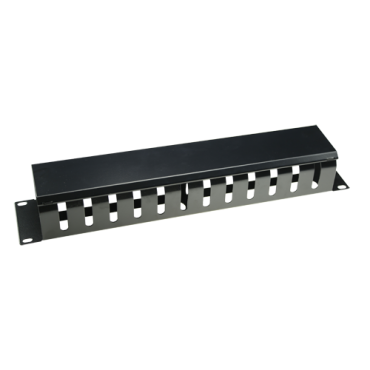 VT-CB-1U: Cable organizer - Maximum dimension 1U - Rack mountable - Robust and durable - Black colour - Constructed in metal
