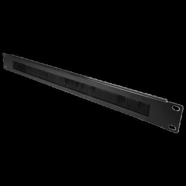 VT-CBBP-1U: Brush panel - Maximum dimension 1U - Rack mountable - Robust and durable - Black colour - Constructed in metal
