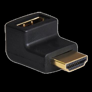 CON-HDMI-L : HDMI elbow adapter - HDMI A/F-A/M connector - 1 unit