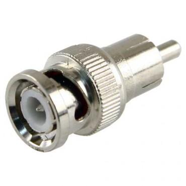 CON225 : BNC male to RCA male connector - 1 unit