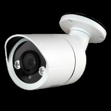 "CAM-027-Q4N1: 5Mpx/4Mpx PRO Bullet camera - 4 in 1 (HDTVI / HDCVI / AHD / CVBS) - 1/2.7"" SmartSens© SC5035+FH8538M - 3.6 mm Lens - IR LEDs Array Range 30 m - OSD remote menu from DVR"