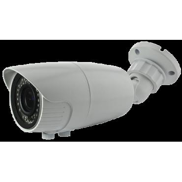 "CAM-129VSW-F4N1: 1080p Bullet Camera - HDTVI, HDCVI, AHD and CVBS - 1/2.8"" CMOS Starlight IMX307 + FH8550M - 2.7~13.5 mm Lens - SMD LEDs range 40 m - Remote OSD menu | WDR (120dB)"