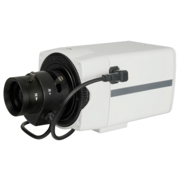 "CV581KW-F4N1: Box Camera HDTVI, HDCVI, AHD & Analogue - 1080p (25 fps) - 1/3"" Panasonic© 2.0 Megapixel CMOS - Supports manual lenses and DC - Minimum illumination 0.01 Lux - Remote OSD menu with real WDR"