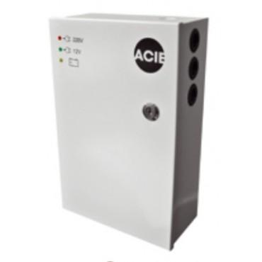 PAC3-12 : Powersupply 12VDC, 3Amp in steel cabinet