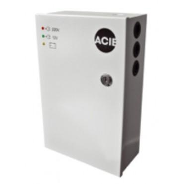 PAC5-12 : Powersupply 12VDC, 5Amp in steel cabinet