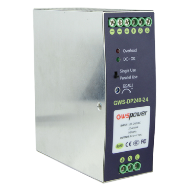VT-DC24V10A-DIN: Switching Power Supply - DC Output 24V 10A / 240W - 2 outputs - Input voltage 90 V ~ 264 V - 100 (D) x 94 (H) x 40 (W) mm - DIN rail mount