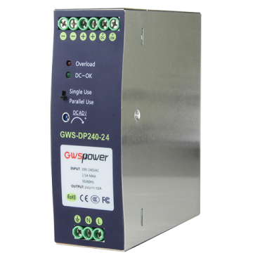 DC24V5A-DIN: Switching Power Supply - DC Output 24V 5A / 120W - 2 outputs - Input voltage 90 V ~ 264 V - 100 (D) x 94 (H) x 40 (W) mm - DIN rail mount