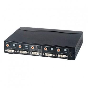 DD04D: 1 input 4 output DVI Distribution Amplifier  With Digital/Optical Audio