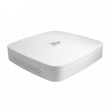 NVR4104-P-4KS2: Dahua 4CH IP PoE NVR - 80Mbps - H.265/MJPEG dual stream - HDMI/VGA video output - Onvif 2.4 - Support 1 HDD up to 6TB - Support IPC UPnP, 4POE ports - Webviewer, CMS(DSS/PSS) & DMSS