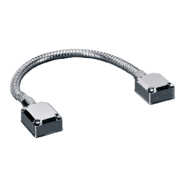 DLK-401: Reinforced door cable - Flexible tube - Metal - prevent cable damage - For all types of doors - 480(Al) x 40(Fo) x 24(An) mm