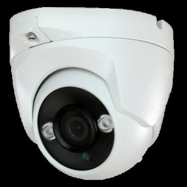 "CAM-821-Q4N1: Dome camera Range 5Mpx/4Mpx PRO - 4 in 1 (HDTVI / HDCVI / AHD / CVBS) - 1/2.7"" SmartSens© SC5035+FH8538M - 3.6 mm Lens - IR LEDs Array Range 30 m - OSD remote menu from DVR"