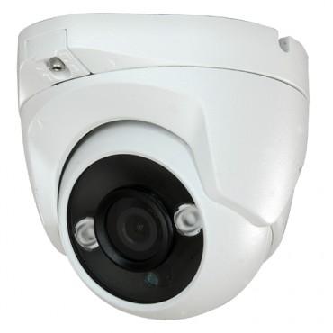 "CAM-822IB-F4N1: 1080p ECO Dome Camera - 4 in 1 (HDTVI / HDCVI / AHD / CVBS) - 1/2.7"" Brigates© 2.1 MP BG0806 - 2.8 mm Lens - IR LEDs Range 30 m - OSD remote menu from DVR"