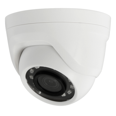 "CAM-908-F4N1: 1080p ECO Dome Camera - 4 in 1 (HDTVI / HDCVI / AHD / CVBS) - 1/2.7"" Brigates© BG0806 - 3.6 mm Lens - 12 IR SMD LEDs Range 25 m - Made of PVC for interior"