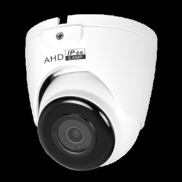 "CAM-940-Q4N1: Dome Camera 5Mpx/4Mpx Range ECO - 4 in 1 (HDTVI / HDCVI / AHD / CVBS) - 1/2.7"" SmartSens© SC5035+FH8538M - 2.8 mm Lens - IR LEDs SMD Range 30 m - OSD remote menu from DVR"