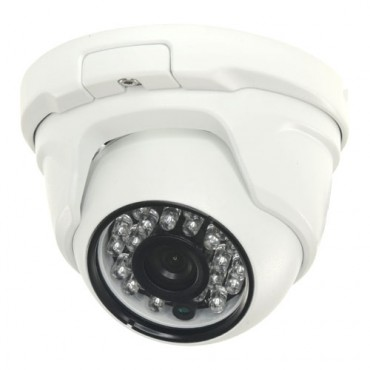 "CAM-942IB-4N1: 720p ECO Dome Camera - 4 in 1 (HDTVI / HDCVI / AHD / CVBS) - 1/3"" 1.3 Mpx PAS5130 - 2.8 mm Lens - 18 IR SMD LEDs Range 20 m - Weatherproof IP66"