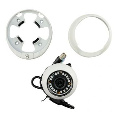 "CAM-941IB-4N1: 720p ECO Dome Camera - 4 in 1 (HDTVI / HDCVI / AHD / CVBS) - 1/3"" 1.3 Mpx PAS5130 - 3.6 mm Lens - 18 IR SMD LEDs Range 20 m - Weatherproof IP66"