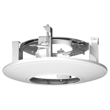 DS-1227ZJ: Recessed ceiling bracket - For dome cameras - Made of aluminum - White colour - Compatible with Hiwatch Hikvision - Cable pass