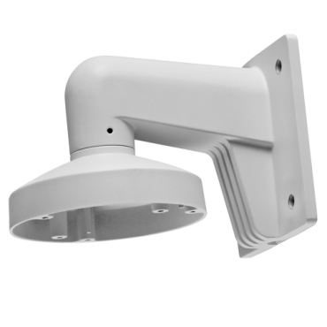 DS-1272ZJ-110-TRS: Wall bracket - For dome cameras - Valid for exterior use - Aluminum with Spray treatment - Compatible with Hikvision - Cable pass