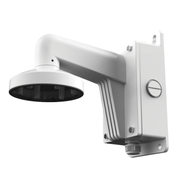 DS-1272ZJ-110B: Wall bracket - Connection box - Valid for exterior use - White colour - Compatible with Hiwatch Hikvision - Cable pass