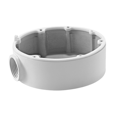 DS-1280ZJ-DM18: Connection box - For dome cameras - Suitable for outdoor use - Wall or ceiling installation - White colour - Cable pass