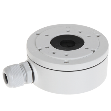 DS-1280ZJ-XS: Connection box - For bullet and dome cameras - Wall or ceiling installation - Suitable for outdoor use - White colour - Cable pass