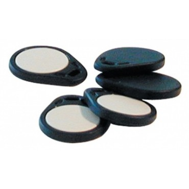 BA403-10: Passive prox EM badge NISO TOKEN format black door, for 125KHz reader - bag 10 pcs