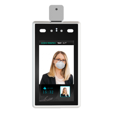 FACE-TEMP: Access Control - Detection of fever and mask - Facial recognition - 22.400 faces, 100.000 registrations - TCP/IP, USB | Operating modes - sVMS2000 Free software included