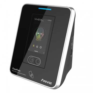 FACEPASS7: Anviz Access Control and Time & Attendance - Biometric dual sensor facial recognition - Face recognition, card & PIN - 3.000 faces and 100.000 logs - 10 Modes of Time & Attendance | Integrated controller - CrossChex software
