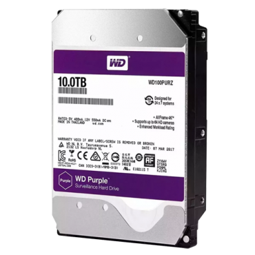 HD10TB: Western Digital Hard Disk Drive - Capacity 10 TB - SATA interface 6 GB/s - Model WD100PURX-78 - Especially for Video Recorders