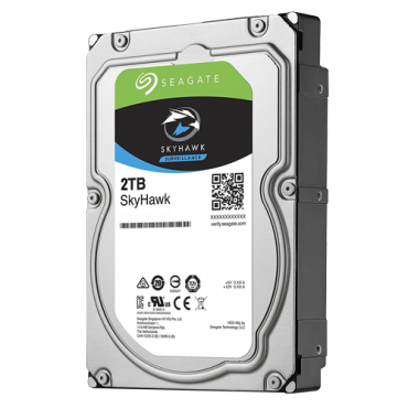 HD2TB-S-LITE: Seagate Skyhawk Hard Drive - Capacity 2 TB - SATA interface 6 GB/s - Model ST2000VX007 - Especially for Video Recorders - Loose or installed in DVR