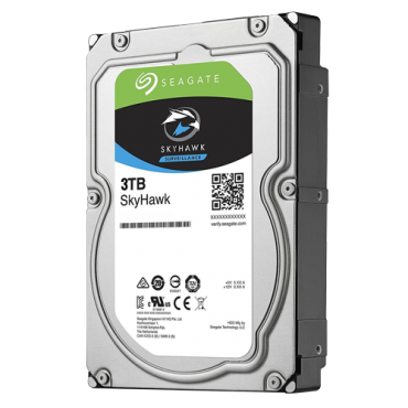 HD3TB-S: Seagate Skyhawk Hard Drive - Capacity 3 TB - SATA interface 6 GB/s - Model ST3000VX006 - Especially for Video Recorders - Loose or installed in DVR