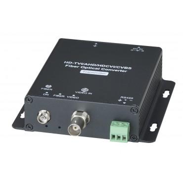 HD401F-5M: HD-TVI / AHD / HDCVI / CVBS with RS485 Fiber Extender