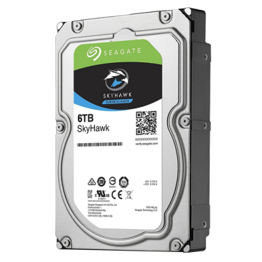 HD6TB-S: Seagate Skyhawk Hard Drive - Capacity 6 TB - SATA interface 6 GB/s - Model ST6000VX0001 - Especially for Video Recorders - Loose or installed in DVR