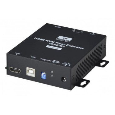 HE01F-4K6G-KS: 4K HDMI KVM USB/IR/RS232 Fiber Optic Extender, Package include 2 x SFP+ 10G 2KM  Single Mode Fiber Module