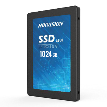 "HS-SSD-E100-1024G: Hikvision SSD hard disk 2.5"" - 1024GB Capacity - SATA III Interface - Write speed up to 500 MB/s - Long lasting service life - Ideal for video surveillance"