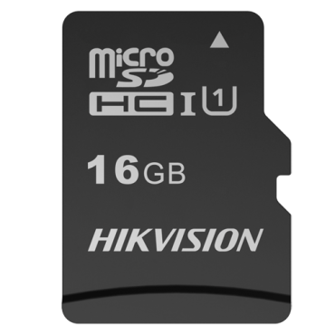 HS-TF-C1-STD-16G-A: Hikvision Memory Card - Capacity 16 GB - Class 10 U1 - To 300 writing cycles - FAT32 - Ideal for mobiles, tablets, etc