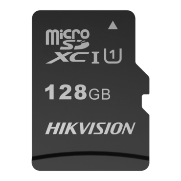 HS-TF-C1STD-128G: Hikvision Memory Card - Capacity 128 GB - Class 10 U1 - To 300 writing cycles - FAT32 - Ideal for mobiles, tablets, etc