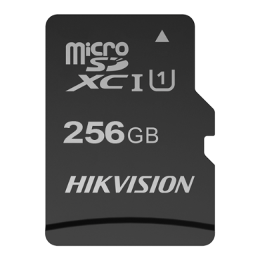 HS-TF-C1STD-256G: Hikvision Memory Card - Capacity 256 GB - Class 10 U1 - To 300 writing cycles - FAT32 - Ideal for mobiles, tablets, etc