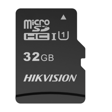 HS-TF-C1STD-32G-A: Hikvision Memory Card - Capacity 32 GB - Class 10 U1 - To 300 writing cycles - FAT32 - Ideal for mobiles, tablets, etc